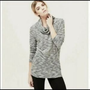 Lou & Grey Marled Knit Cowl Neck Sweater